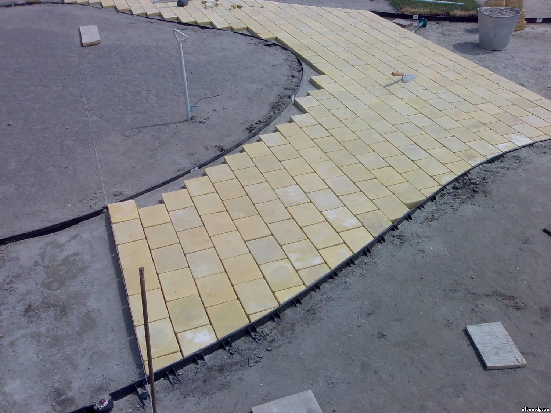 Пластиковая тротуарная плитка укладка своими руками